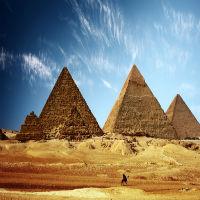 Расположение пирамид